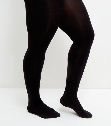 Curves Black 200 Denier Tights | New Look