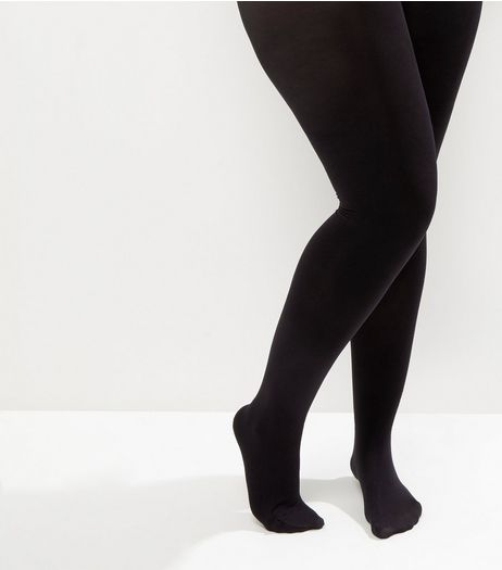 Curves Black 100 Denier Tights | New Look
