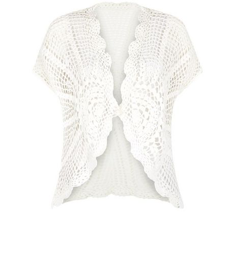 Apricot Cream Crochet Cardigan | New Look
