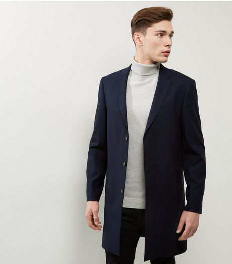 Navy Extreme Longline Blazer | New Look
