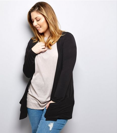 Curves Black Boyfriend Cardigan | New Look