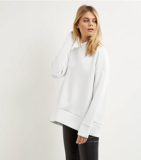 Cream Funnel Neck Long Sleeve Sweater | New Look
