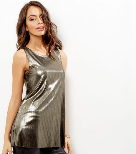 Black Metallic Vest | New Look
