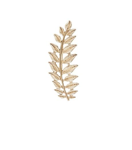 Gold Leaf Brooch | New Look