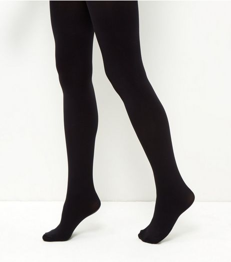 Black Premium 120 Denier Tights | New Look