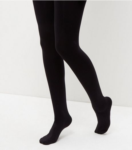 Black Premium 200 Denier Tights | New Look