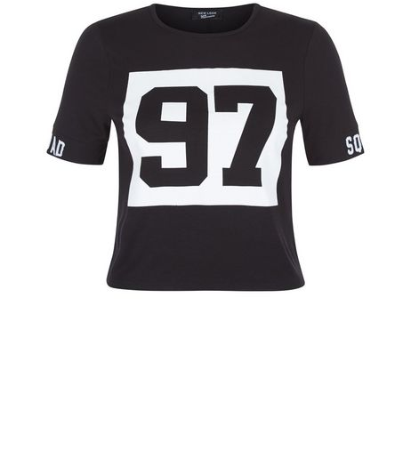 Teens Black 97 Squad T-Shirt | New Look