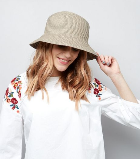 Stone Straw Bucket Hat | New Look