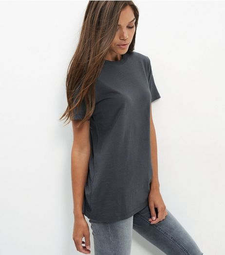 Dark Grey Boyfriend T-Shirt  | New Look