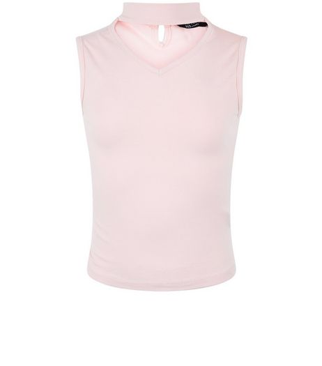 Girls Pink Choker Neck Top | New Look