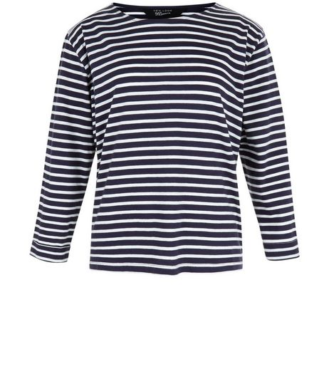 Teens Blue Stripe Long Sleeve Top | New Look