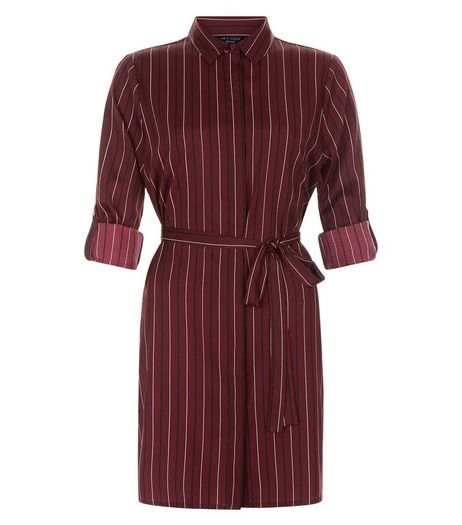 Petite Red Stripe Shirt Dress | New Look