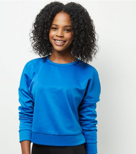 Blue Scuba Sweater  | New Look