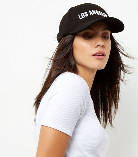 Black Los Angeles Cap | New Look