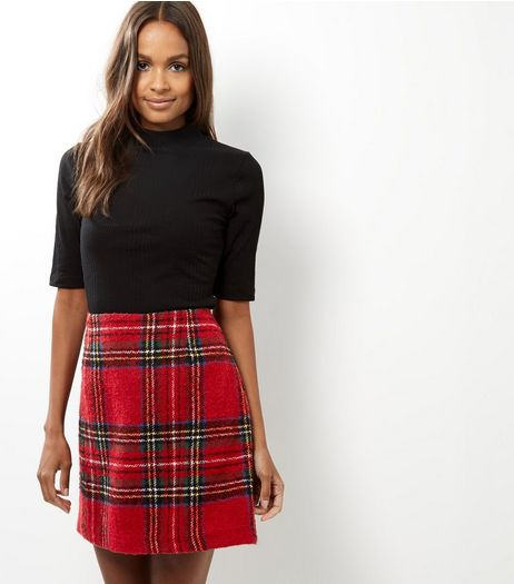 Tall Red Check Mini Skirt | New Look