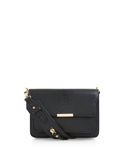 Black Leather-Look Cross Body Bag | New Look