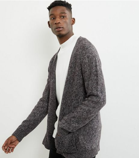 Brown Twist Double Pocket Cardigan | New Look