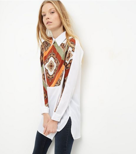 AX Paris White Paisley Print Shirt  | New Look
