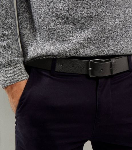 Black Leather Belt | New Look