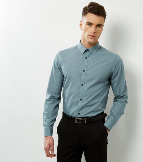 Light Green Cross Dye Long Sleeve Shirt | New Look
