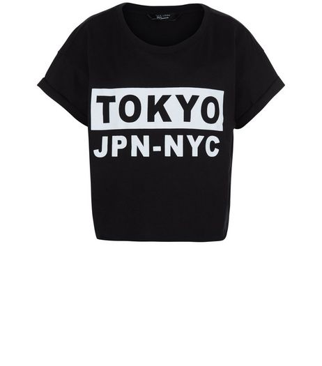 Teens Black Tokyo JPN NYC Crop Top | New Look