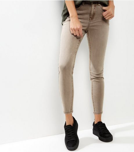 Mink Washed Skinny Jeans  | New Look
