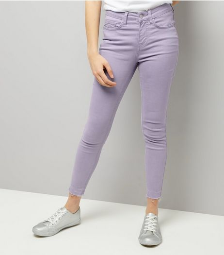 Lilac Washed Skinny Jenna Jeans | New Look