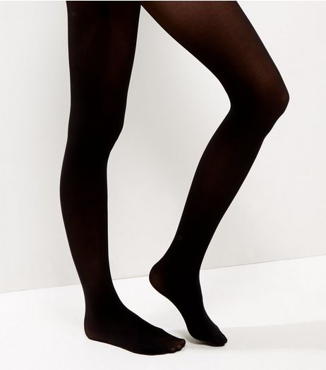 Black 40 Denier Luxury Shaping Tights | New Look