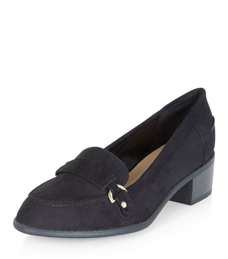 Teens Black Suedette Loafers | New Look