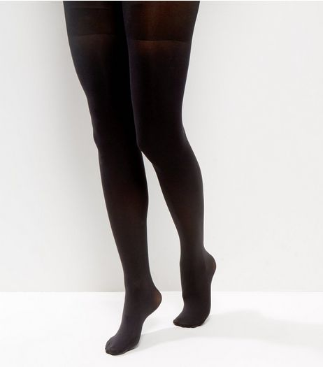 Black 80 Denier Shaping Tights | New Look