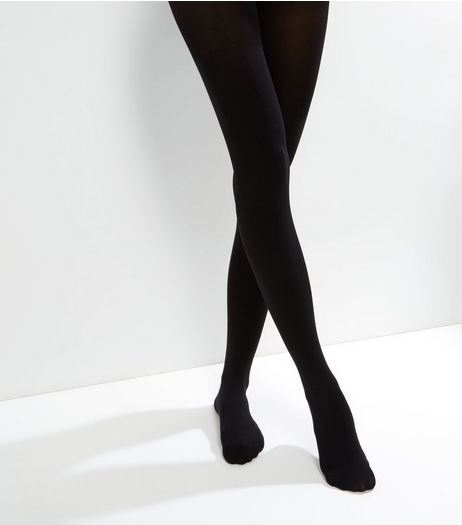 Black 100 Denier Shaping Tights | New Look