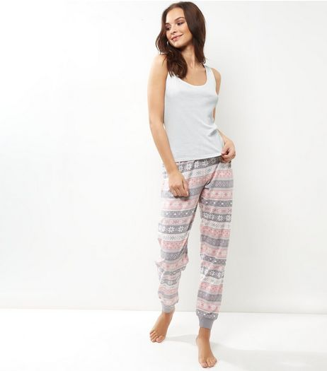 Pastel Pink Fairisle Pyjama Set | New Look