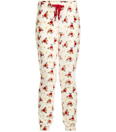 Teens Cream Robin Print Pyjama Bottoms | New Look