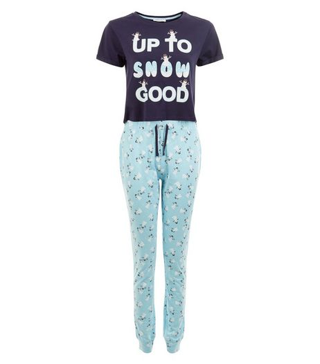 Teens Up To Snow Good Cotton Pyjama Set | New Look