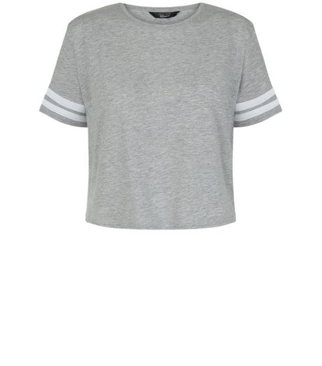 Teens Grey Contrast Trim T-Shirt | New Look
