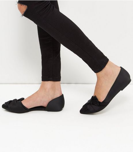 Black Knot Point Pumps | New Look