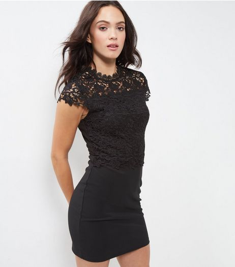 Parisian Black Crochet Lace Bodycon Dress | New Look