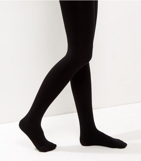Black 100 Denier Luxury Shaping Tights | New Look