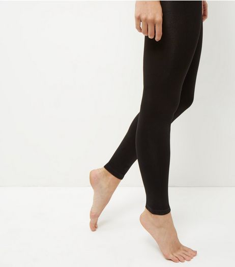 Black Footless 200 Denier Tights | New Look