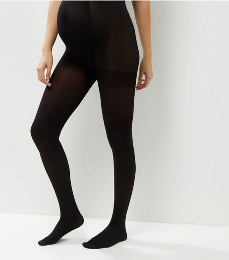 2 Pack Maternity Black 100 Denier Tights | New Look