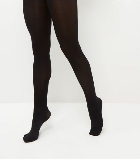 2 Pack Black 100 Denier Tights | New Look