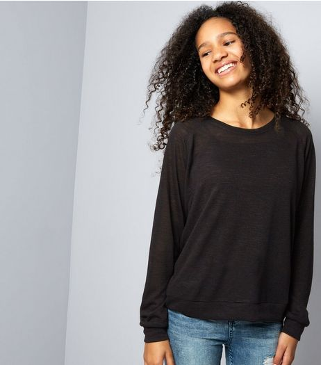 Teens Black Fine Knit Jumper | New Look