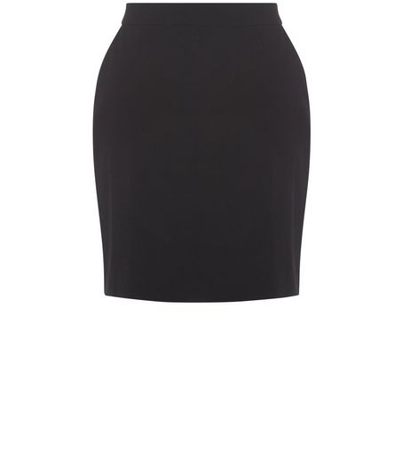 Teens Black Zip Back Mini Skirt  | New Look