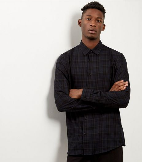 Black Check Long Sleeve Shirt | New Look