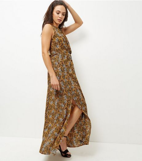 Mela Orange Abstract Print Maxi Dress | New Look