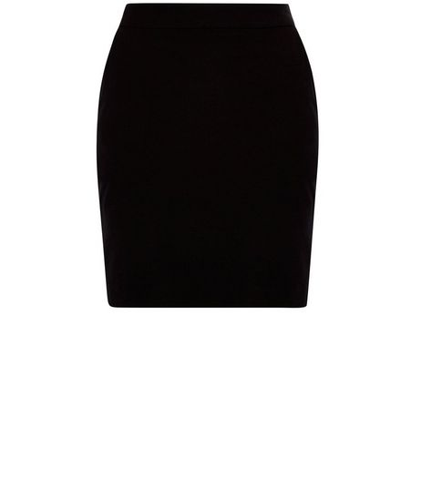 Teens Black Double Pocket Tube Skirt | New Look