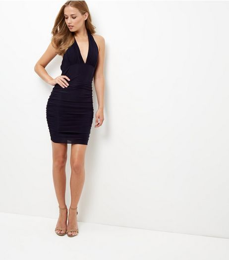 AX Paris Black Halter Neck Dress | New Look