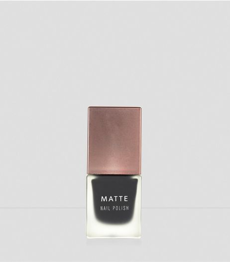 Noir Matte Nail Polish | New Look