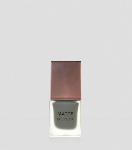 Dark Olive Green Matte Nail Polish | New Look