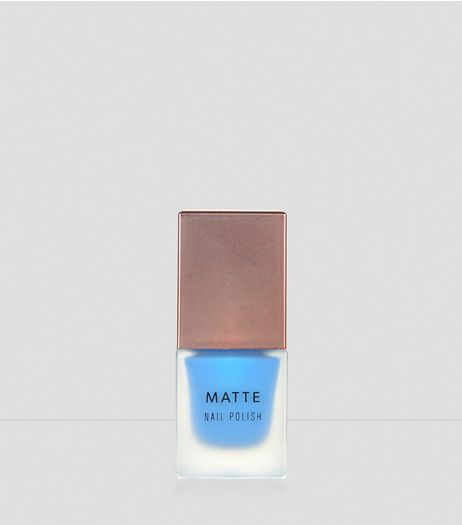 Cornflower Blue Matte Nail Polish | New Look